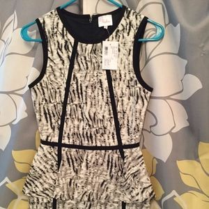 NWT Parker peplum dress XS